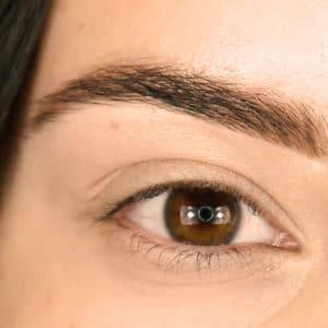 Brow after step 2 Under Eye Concealer