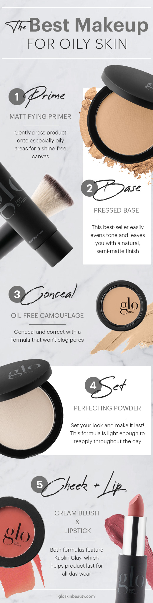 Infographic: The Best Makeup for Oily Skin