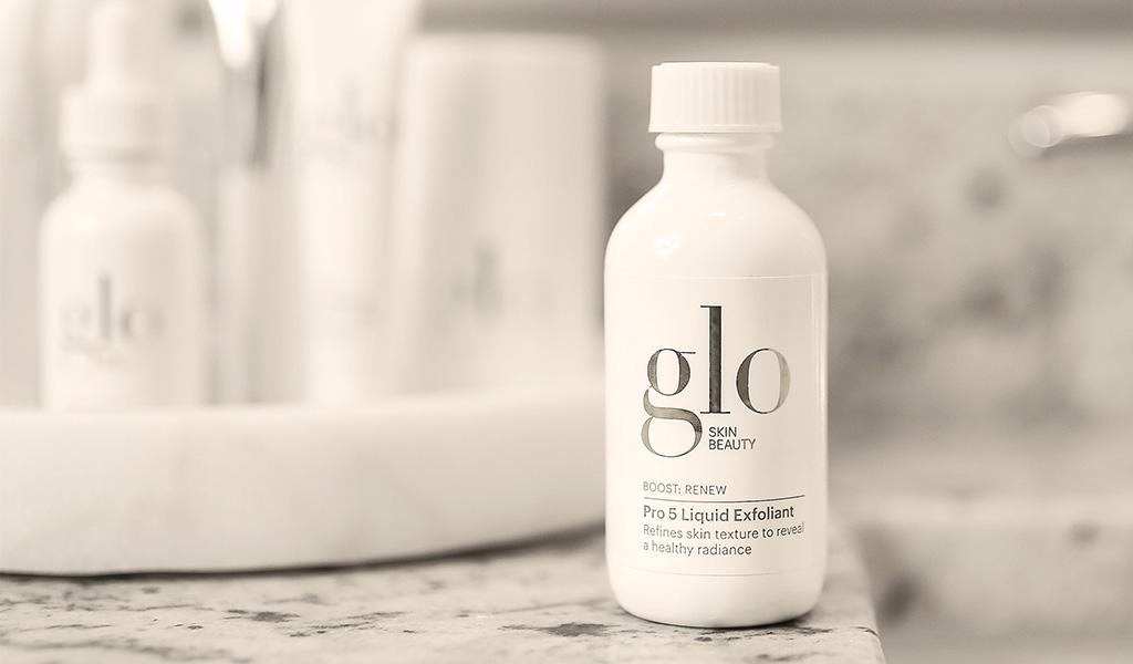 glo skin beauty pro 5 liquid exfoliant close up