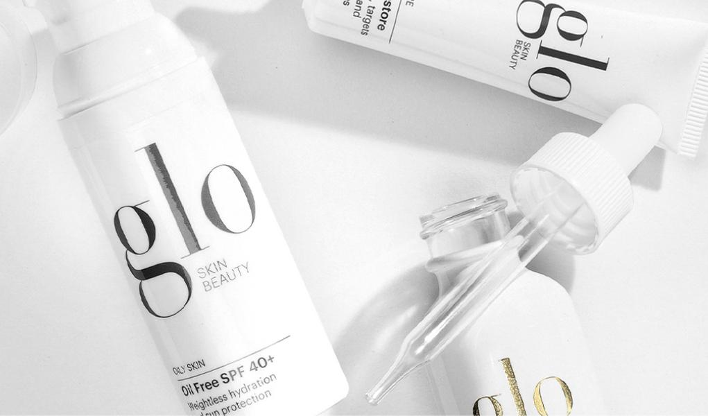 glo skin beauty product closeups