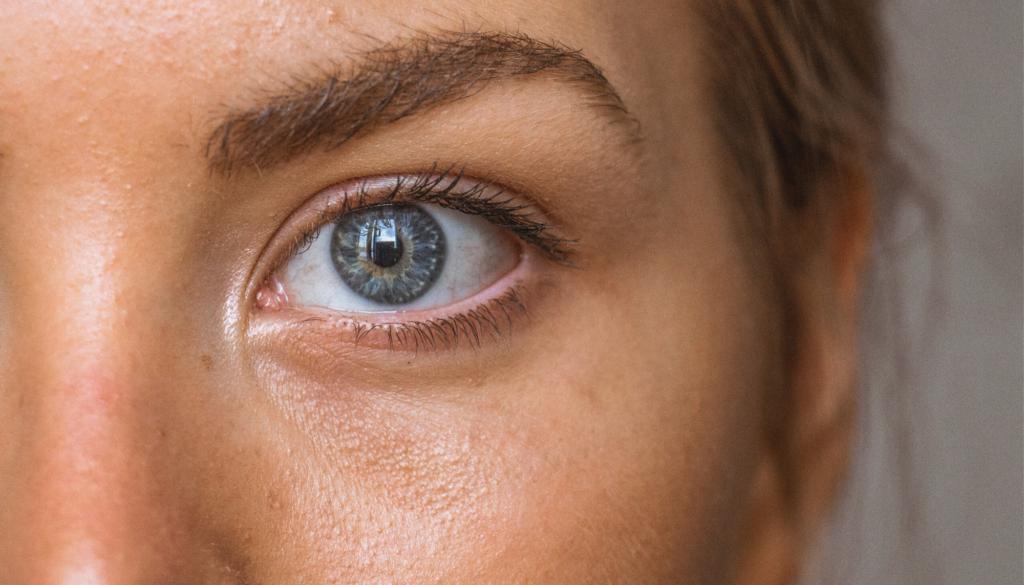 closeup of a woman's eye