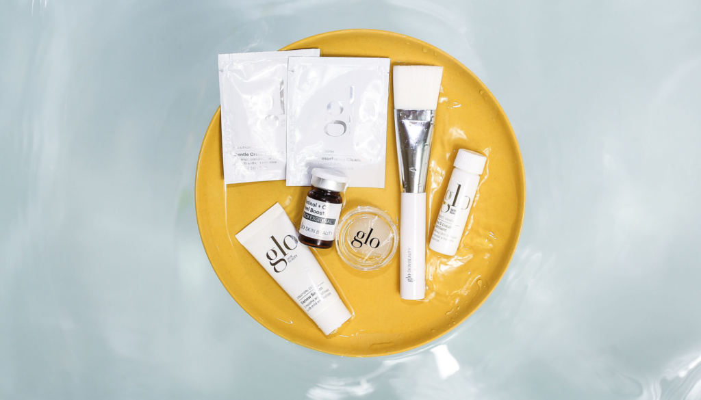 glo skin beauty at-home peel products