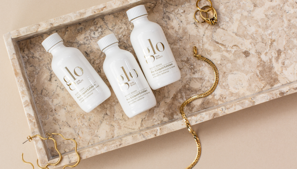 glo skin beauty products with jewelry