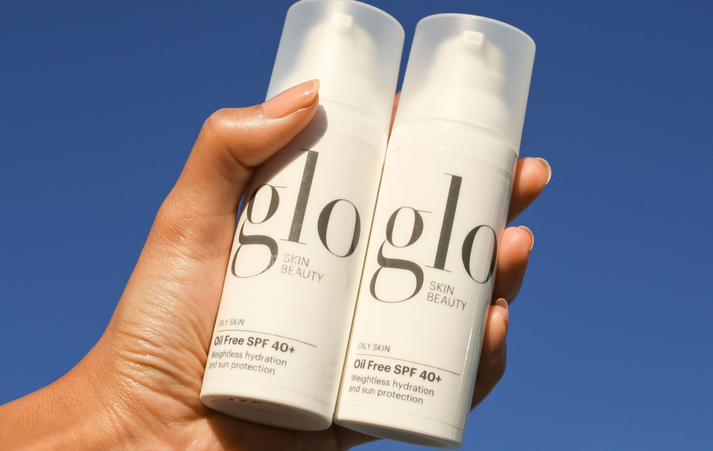 glo skin beauty oil free spf40+ sun protection