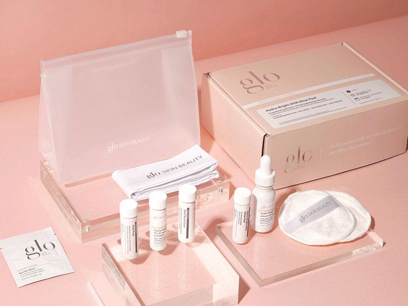 glo skin beauty glow peel product